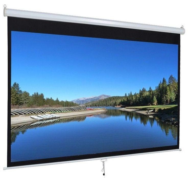 """Iview 80"""" Diagonal Manual Projector Screen 1:1 Format"""