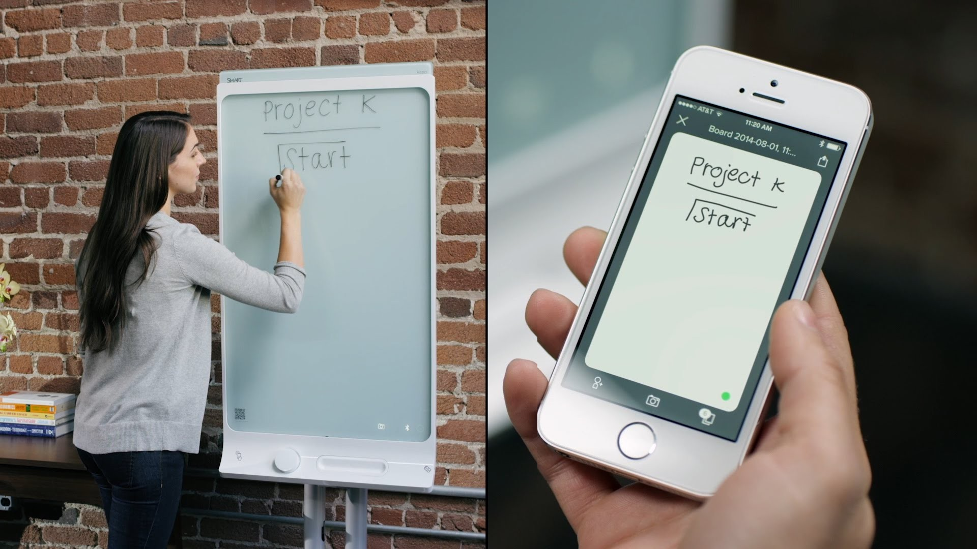 SMART KAPP 42'' Share-As-You-Go Whiteboard With Stand