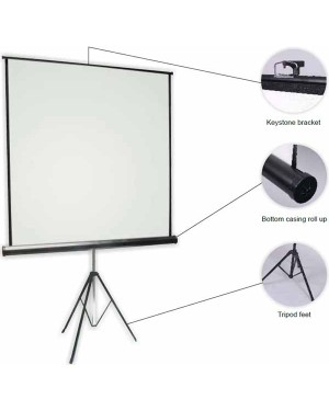 "Anchor ANTRS180 180cmx180cm 100"" Diagonal Tripod Projector Screen"