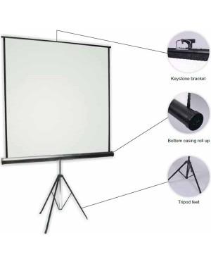 "Anchor ANTRS180 180cmx180cm 100"" Diagonal Tripod Projector Screen"