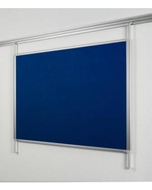 Legamaster Felt Pinboard for Legaline Dynamic 100x120 cm Anodised Aluminium, Blue Felt