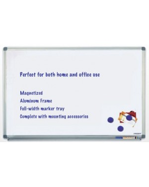 Magnetoplan Magnetic White Board 180cm x 120cm