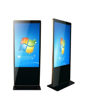 Digital Signage 55'' Stand Alone iPhone & iPad Style LCD Advertising Display With 3G Wifi Network Android