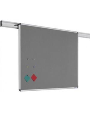 Legamaster Felt Pinboard for Legaline Dynamic 100x120 cm Anodised Aluminium, Grey Felt