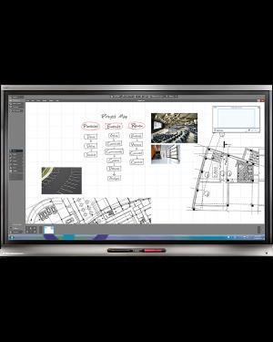 "Smart KAPP-IQ 75"" Capture Board (Display,Whiteboard,Video-Conference Hub)"